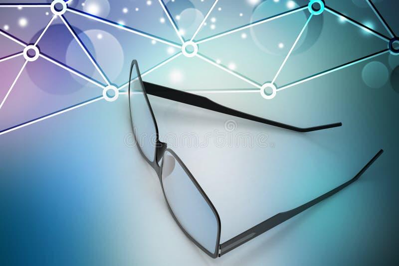Augenglas lizenzfreie abbildung