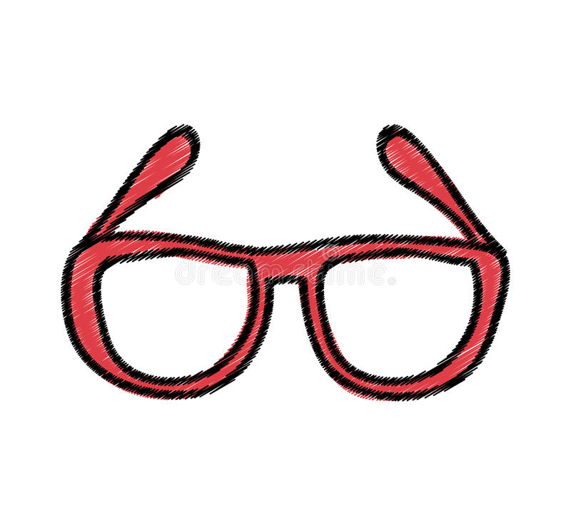 Augenglas-Artikone lizenzfreie abbildung