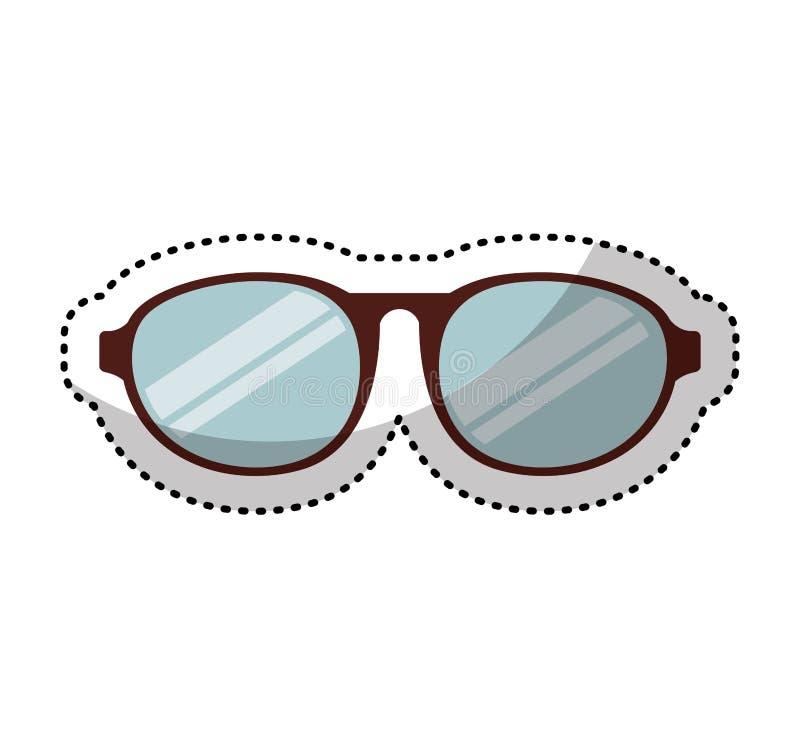 Augenglas-Artikone stock abbildung