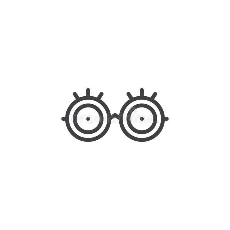 Augenglas-Entwurfsikone lizenzfreie abbildung