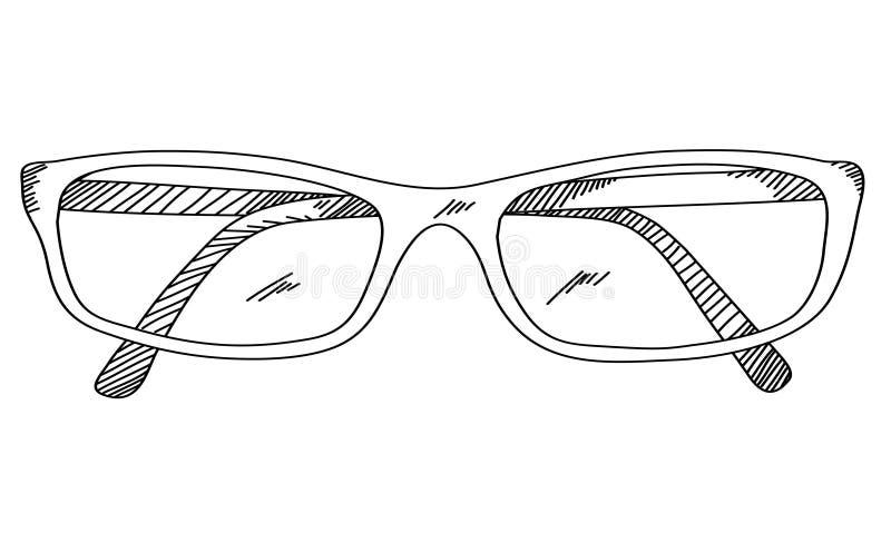 Augenglas-Handzeichnung vektor abbildung