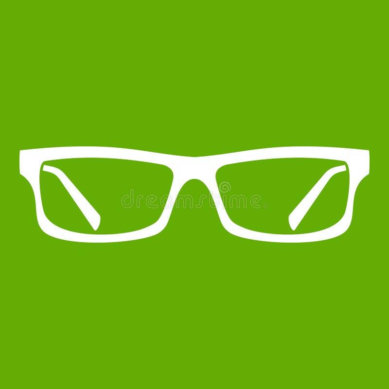 Augenglas-Ikonengrün vektor abbildung