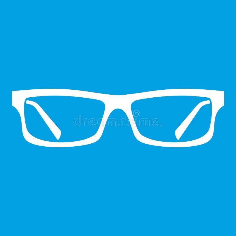 Augenglas-Ikonenweiß lizenzfreie abbildung