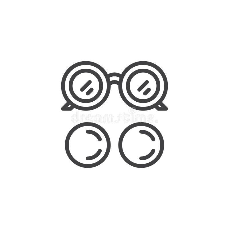 Augenglas- und Augenlinsenentwurfsikone stock abbildung