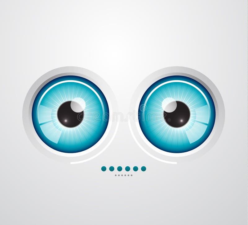 Augenhintergrund stock abbildung