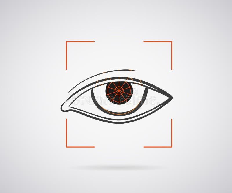 Augenidentifizierung stock abbildung