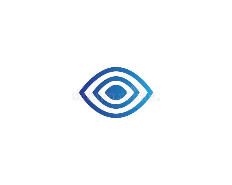 Augenlogo-Vektordesign stock abbildung