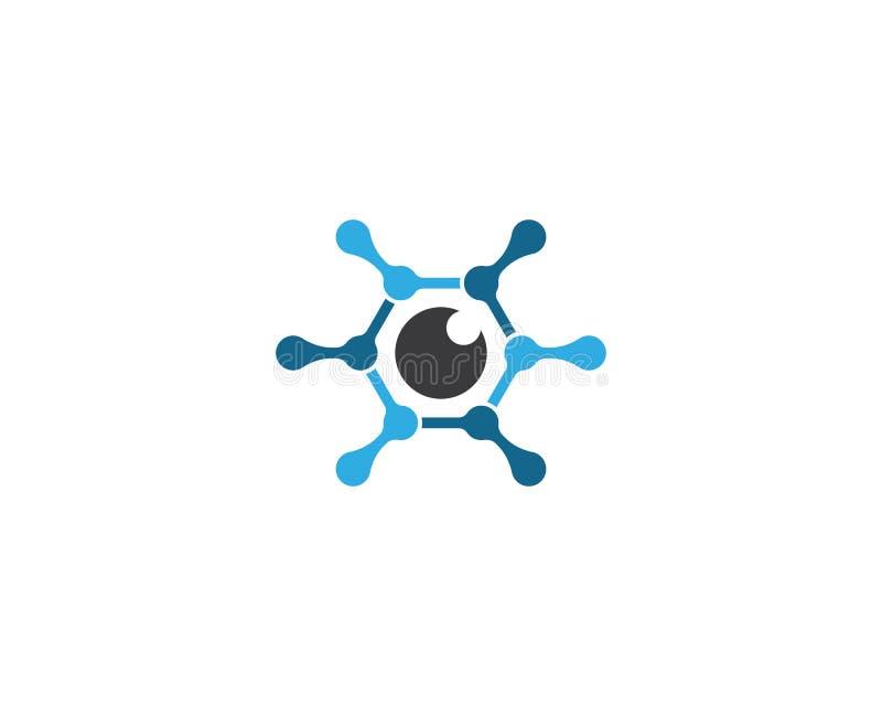 Augenlogoschablonen-Vektorikone stock abbildung