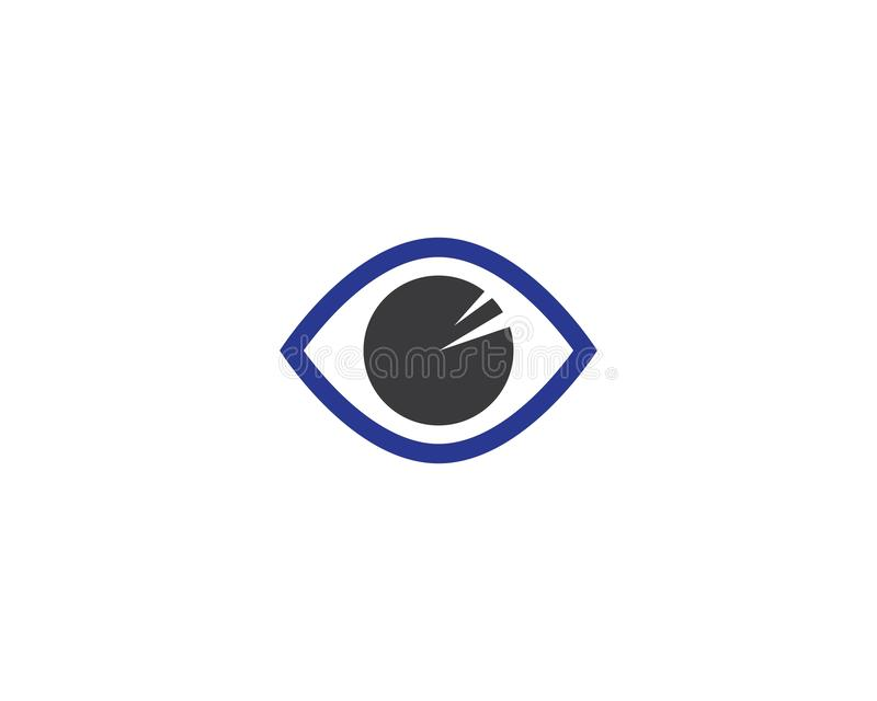 Augenlogoschablonenvektorikonen-Illustrationsdesign lizenzfreie abbildung