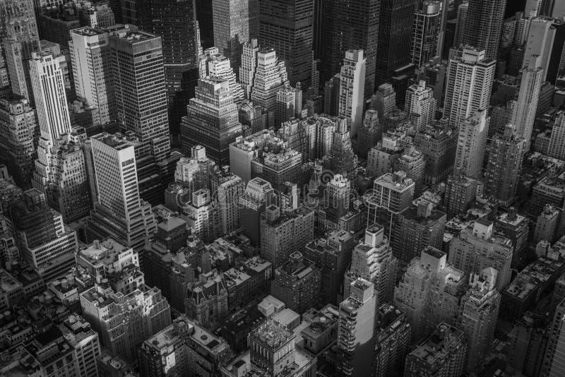 Augenluftstadtbildansicht eines Vogels von Midtown Manhattan, New York City lizenzfreie stockfotografie