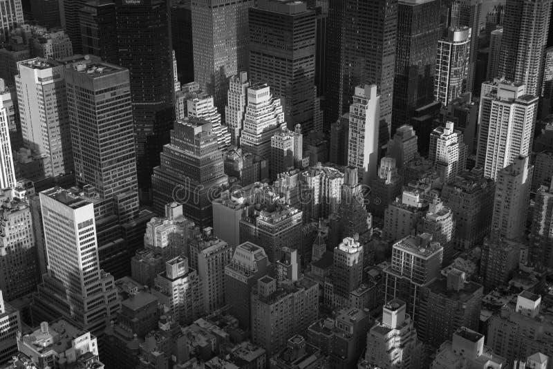 Augenluftstadtbildansicht eines Vogels von Midtown Manhattan, New York City stockbild
