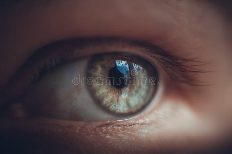 Augenmädchennahaufnahme stockfoto
