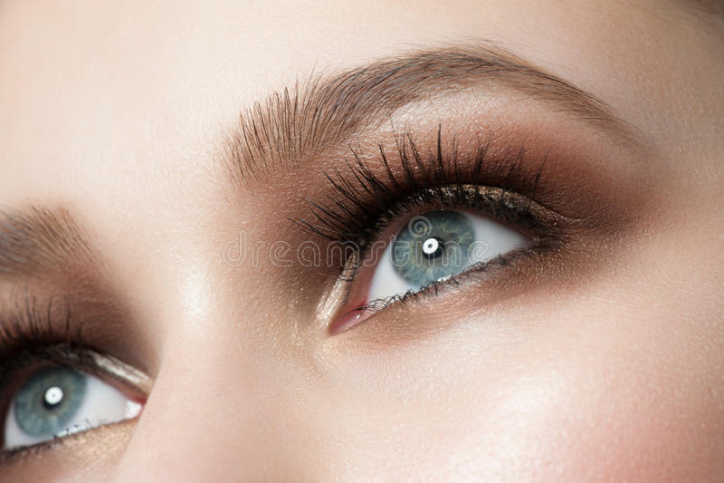 Augenmake-up lizenzfreie stockbilder