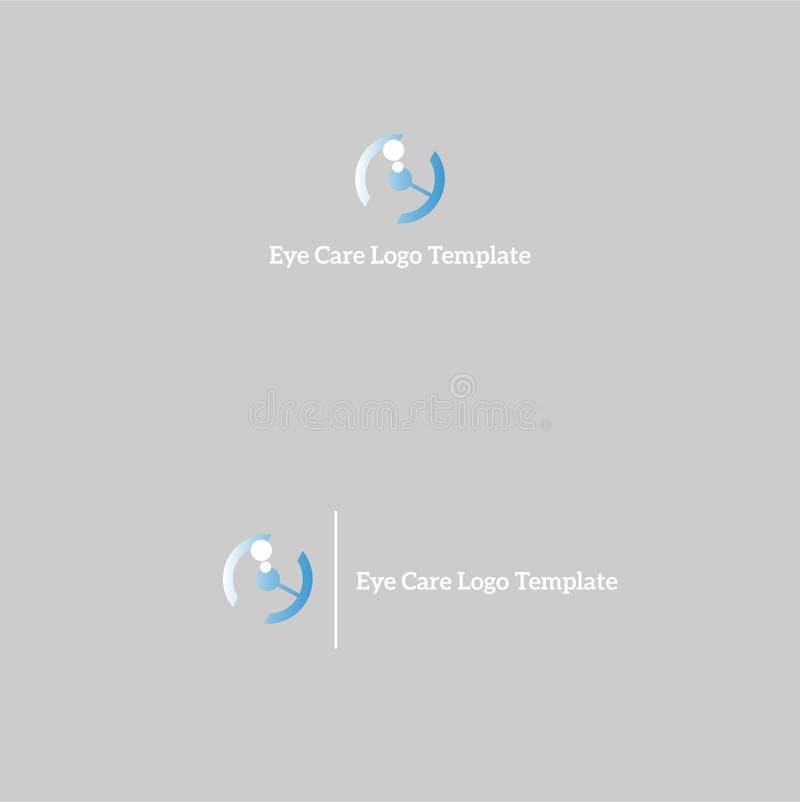 Augenpflegewellnesslogoschablone lizenzfreie stockfotografie