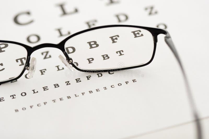 Augenprüfung stockfoto