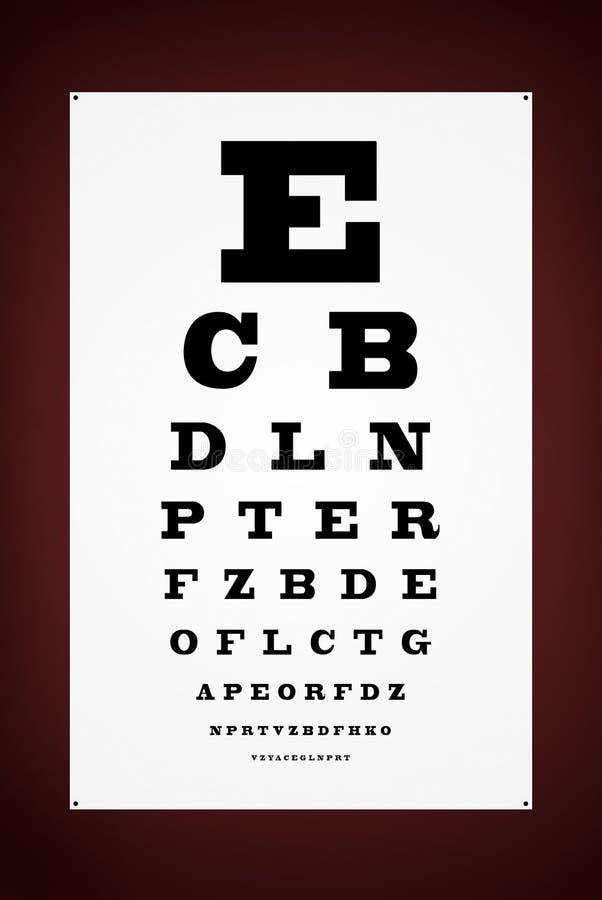Augenprüfungs-Zeichenplakat lizenzfreies stockbild