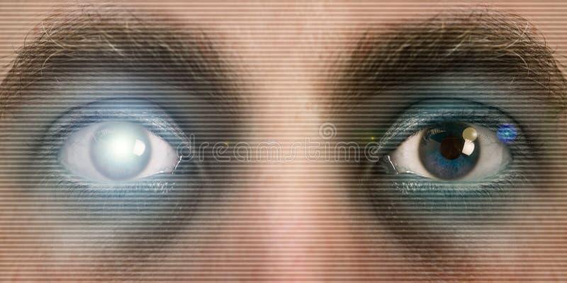 Augenscan lizenzfreie stockfotos