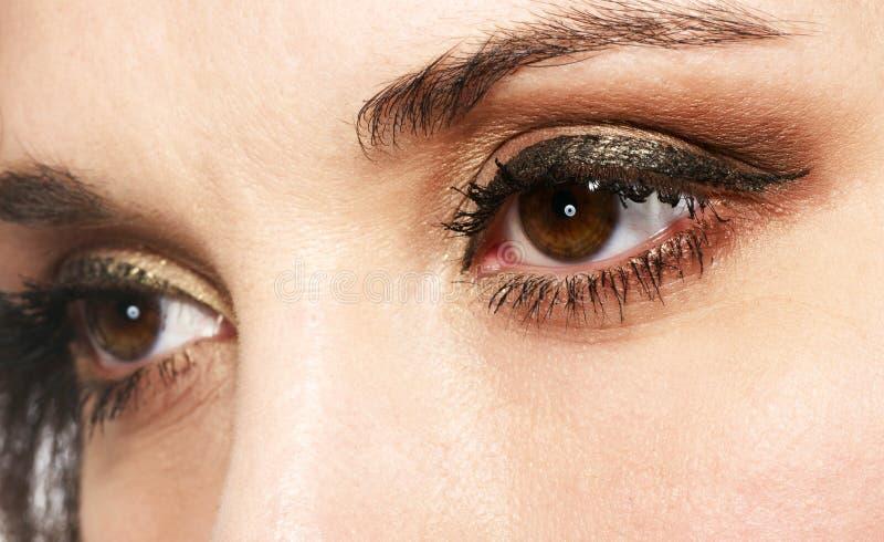 Augenschatten lizenzfreie stockbilder