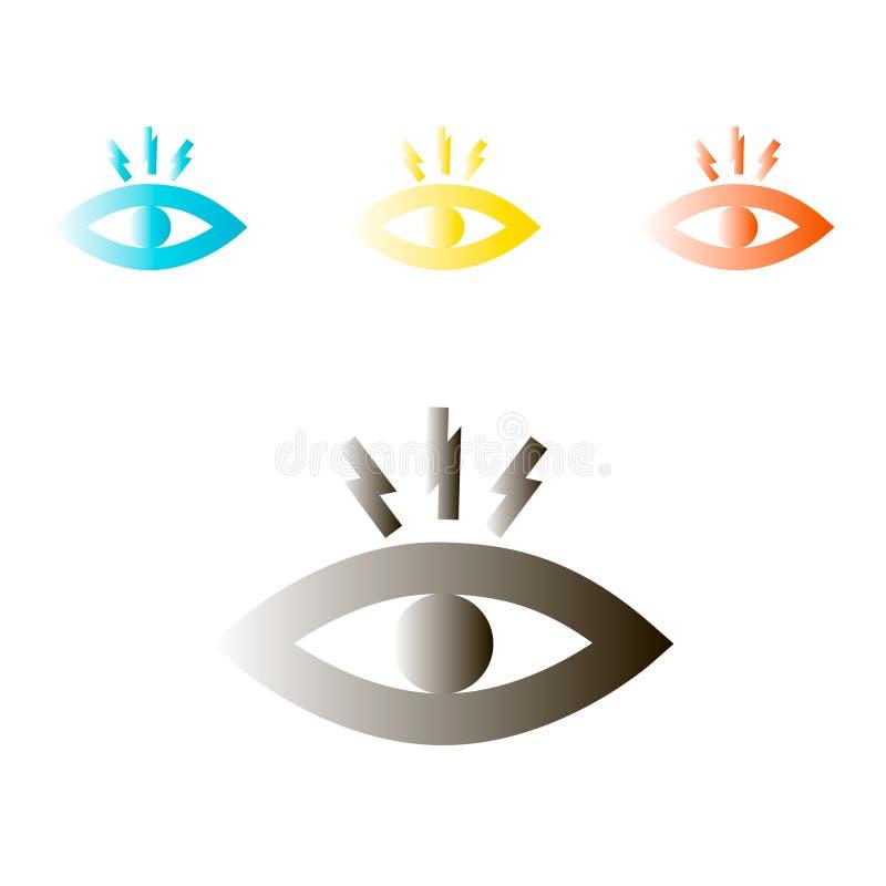 Augenschmerzen Vektorillustration für Website oder bewegliche APP lizenzfreie abbildung