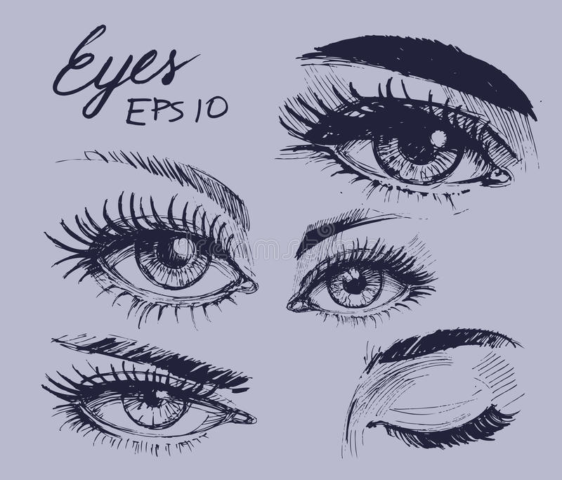 Augenskizze stockfotografie