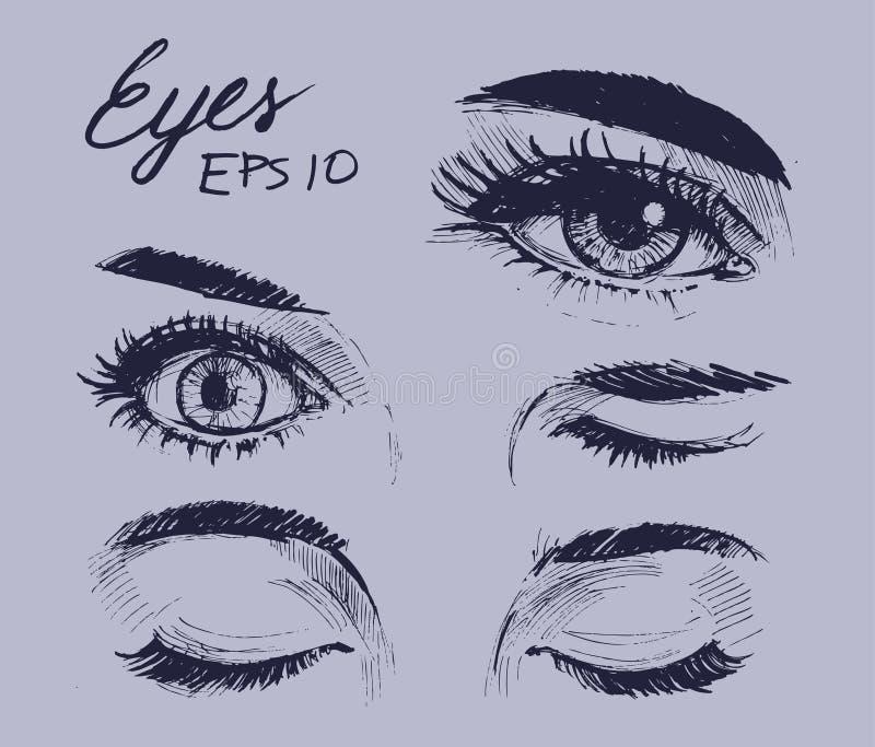 Augenskizze stockbild