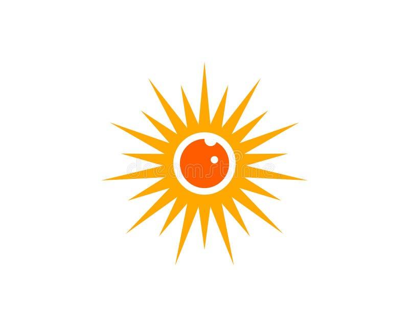 Augensonnenlogo lizenzfreie abbildung