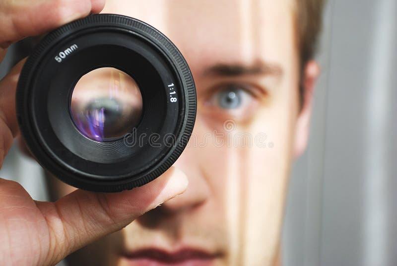 Augenvergrößerung lizenzfreies stockbild