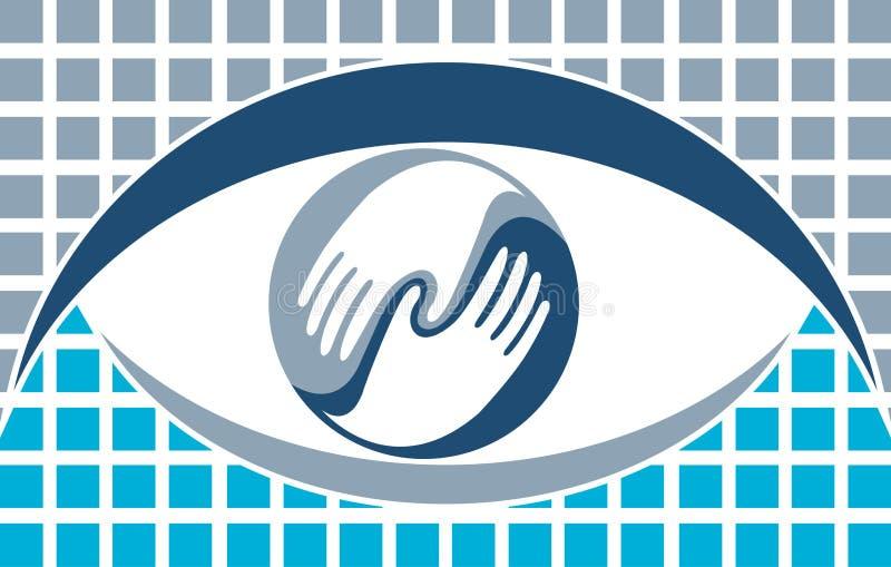 Augenzeichen vektor abbildung