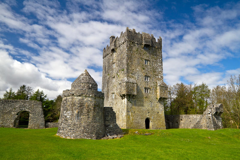 aughnanure grodowy Ireland obraz royalty free