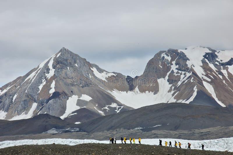 Augmentant dans Hornsund, le Svalbard photo stock
