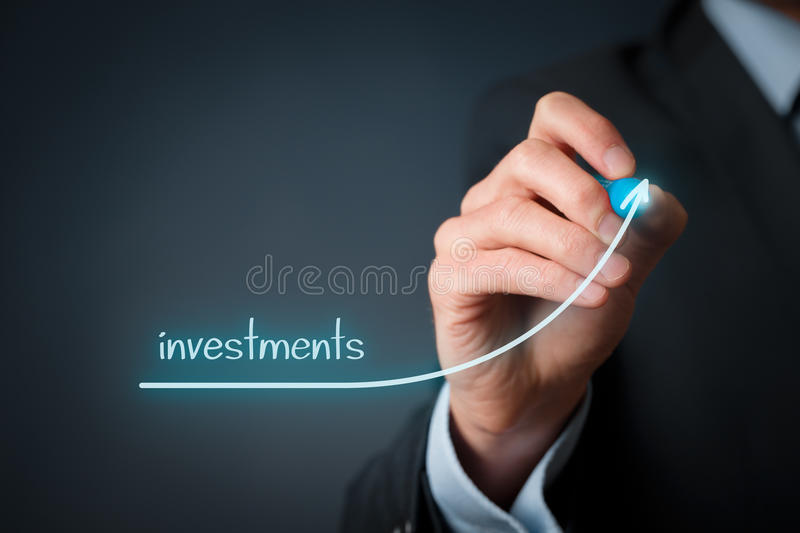 Augmentation d'investissements photo stock