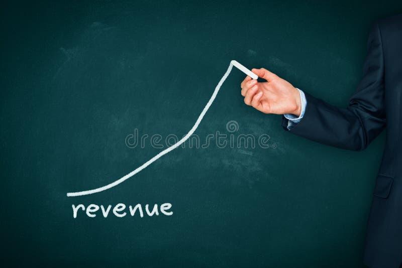 Augmentation de revenu image libre de droits