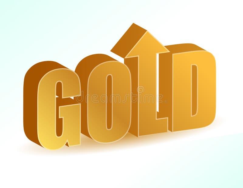 Augmentation des prix en or. illustration libre de droits