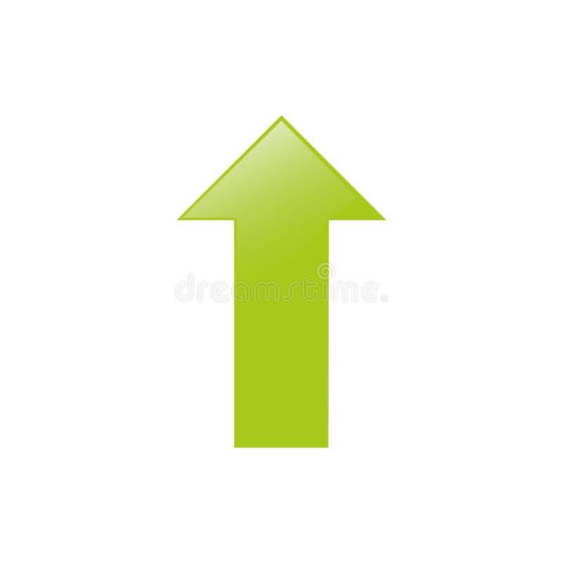 augmentation haute de flèche illustration stock