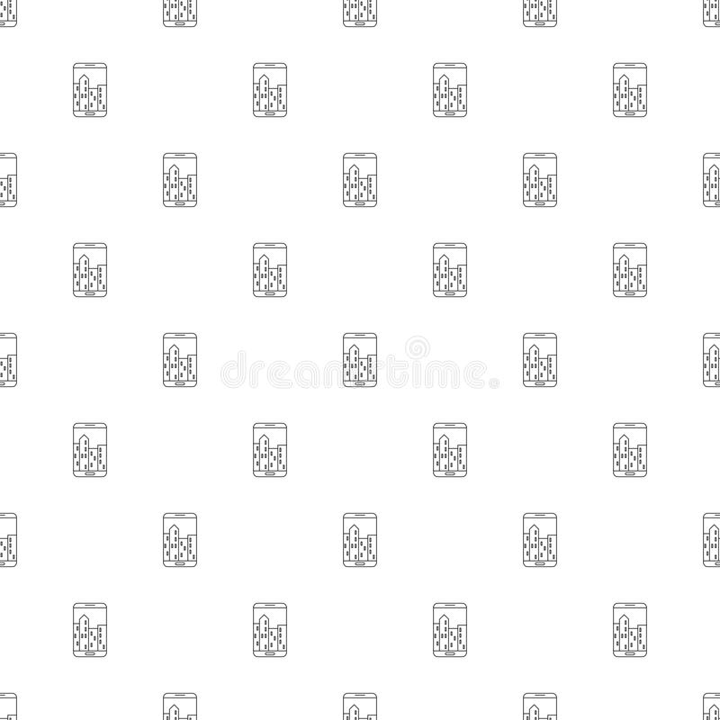 Augmented reality background from line icon. Linear vector pattern. royalty free illustration