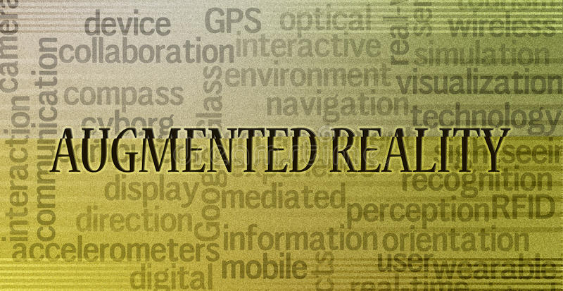 Augmented reality concept royalty free stock photos