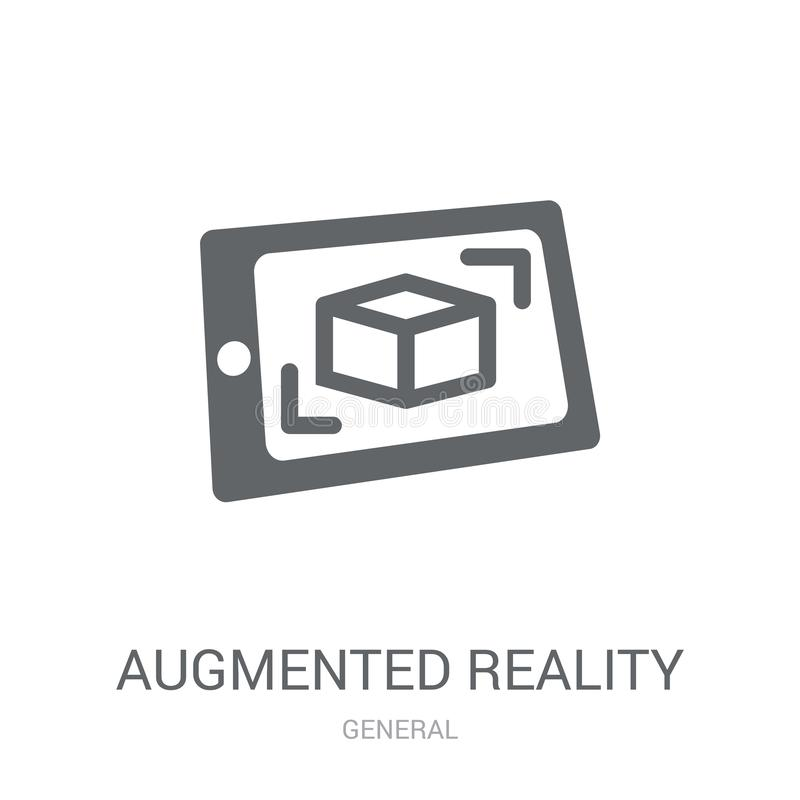 augmented reality icon. Trendy augmented reality logo concept on vector illustration