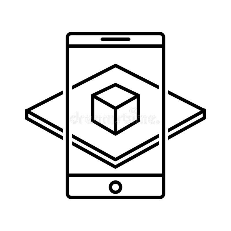 Augmented reality icon, vector illustration royalty free illustration