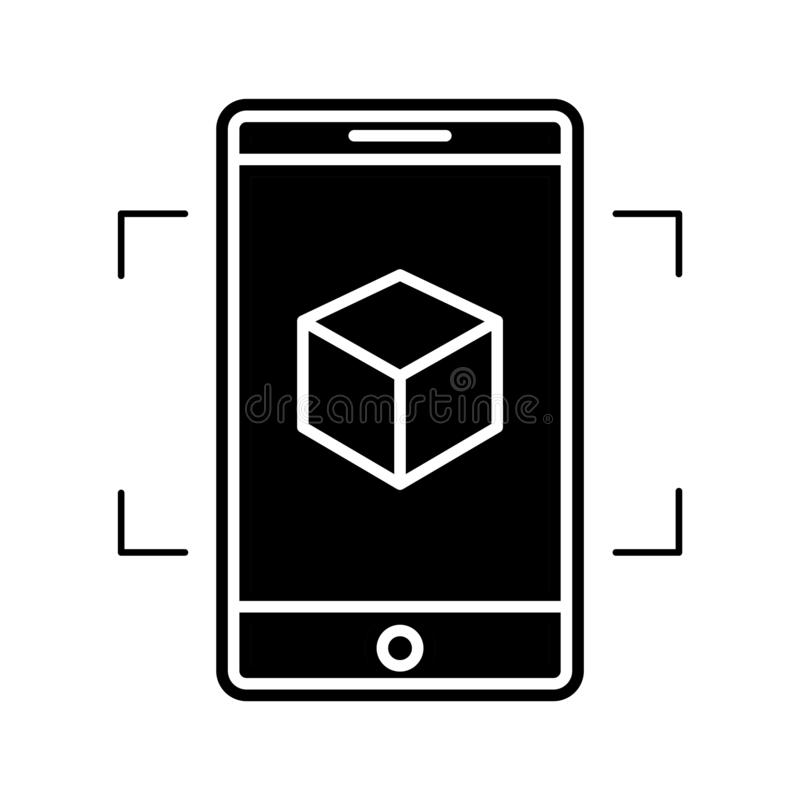 Augmented reality icon, vector illustration. Isolated on white royalty free illustration