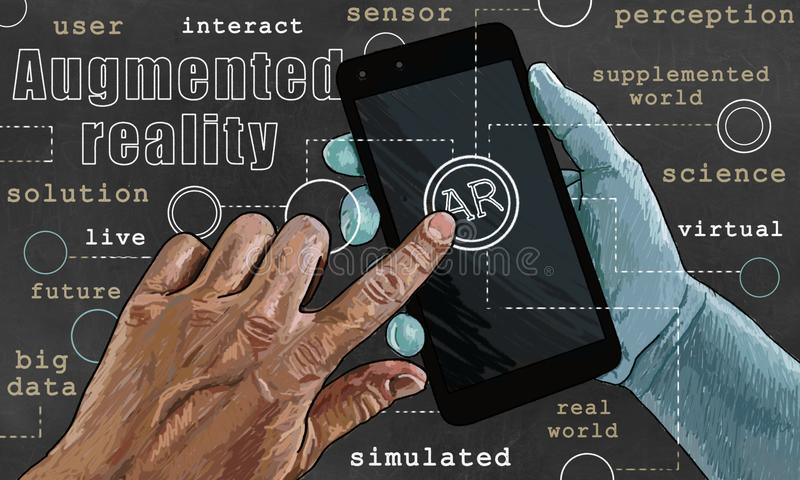 Augmented reality Illustration stock photography