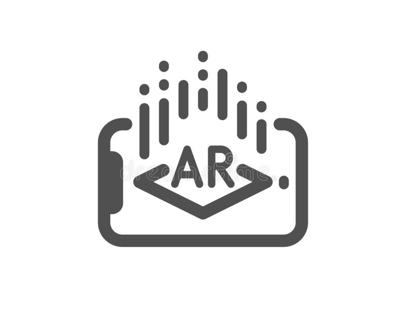 Augmented reality phone icon. VR simulation sign. 3d view. Vector stock illustration