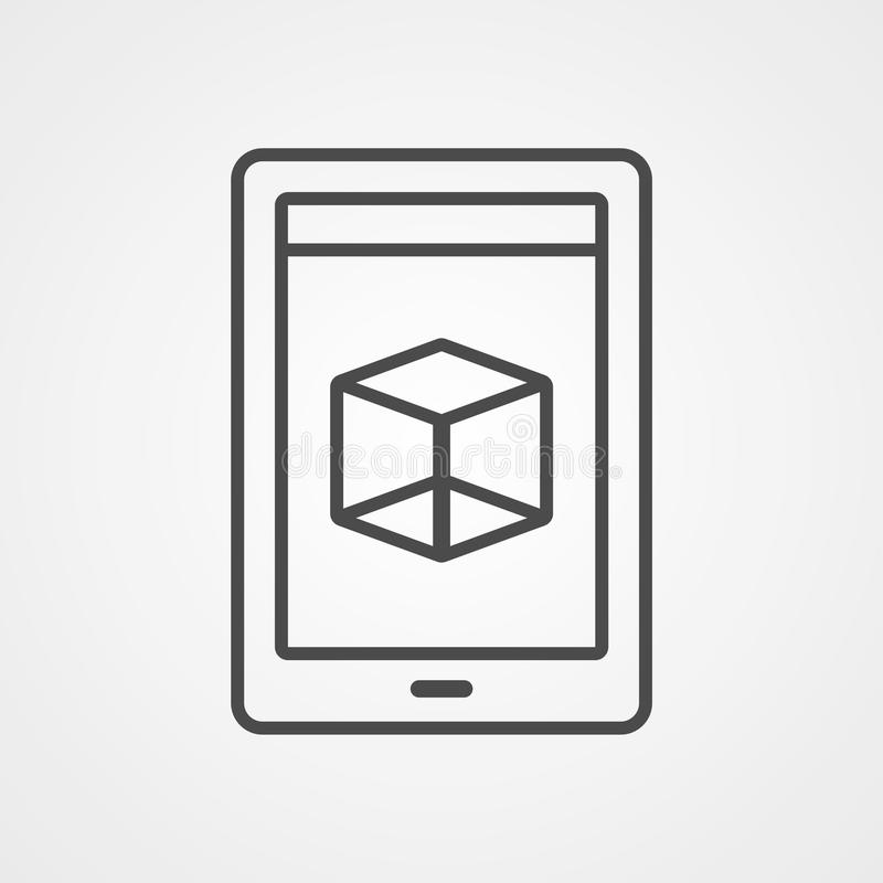 Augmented reality vector icon sign symbol stock illustration