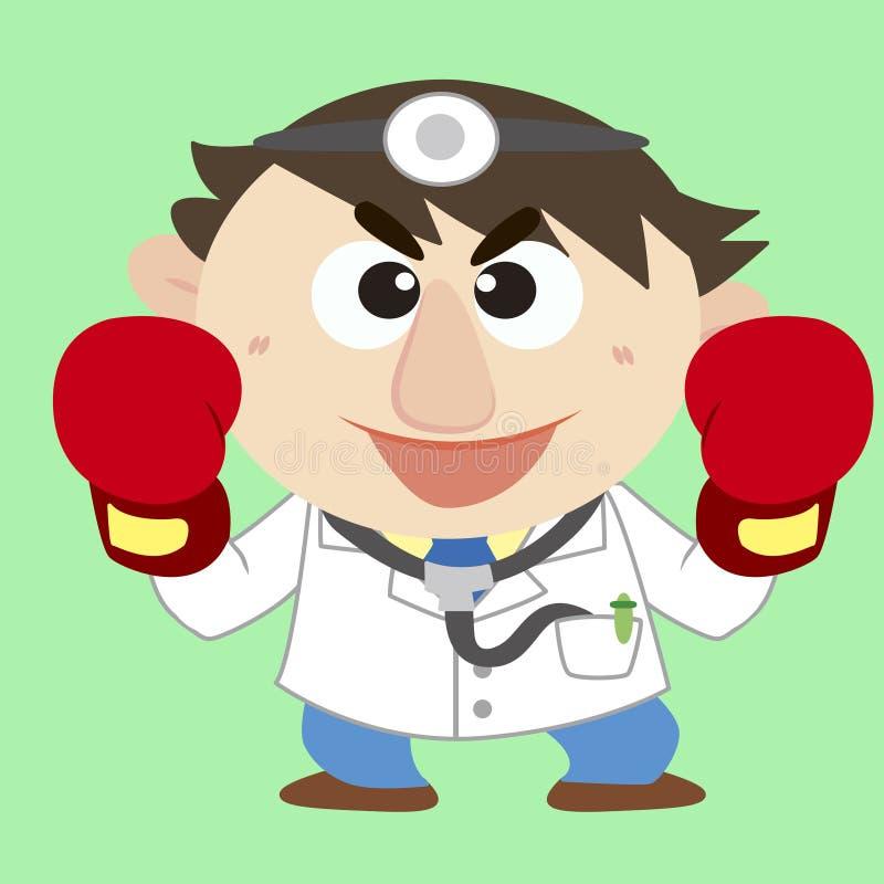 Augmenter de docteur ses gants de boxe illustration libre de droits