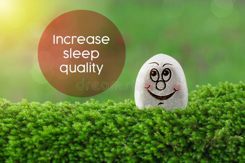 Augmentez la qualité de sommeil images stock