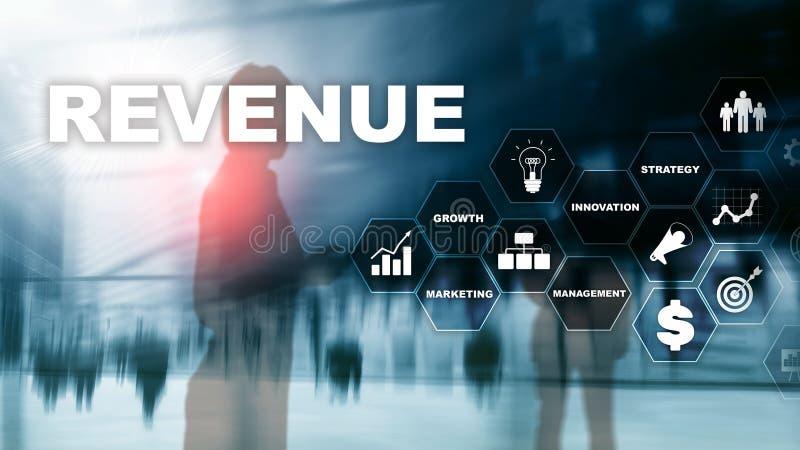 Augmentez le concept de revenu E Media mélangé planification photographie stock