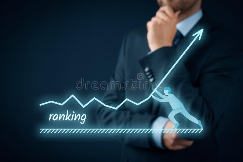 Augmentez le rang images stock