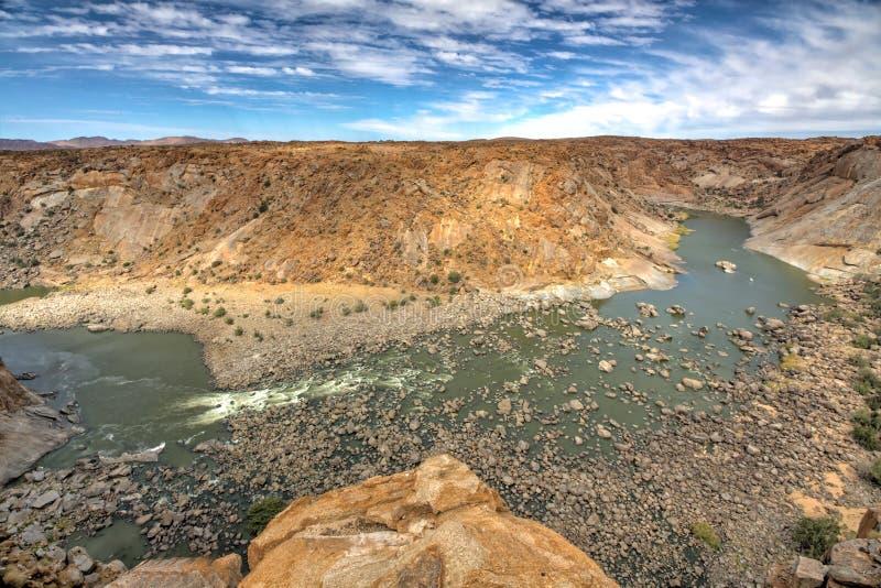 Augrabies baja parque nacional foto de archivo libre de regalías