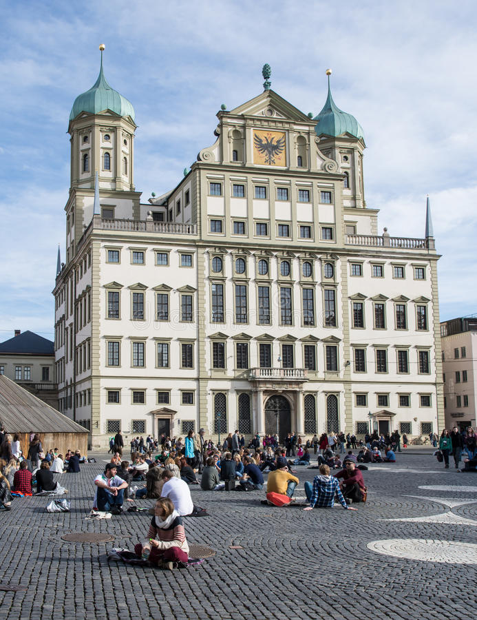 Download Augsburg editorial photo. Image of pavement, group, germany - 38155796
