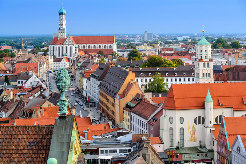 Augsburg Alemania fotos de archivo