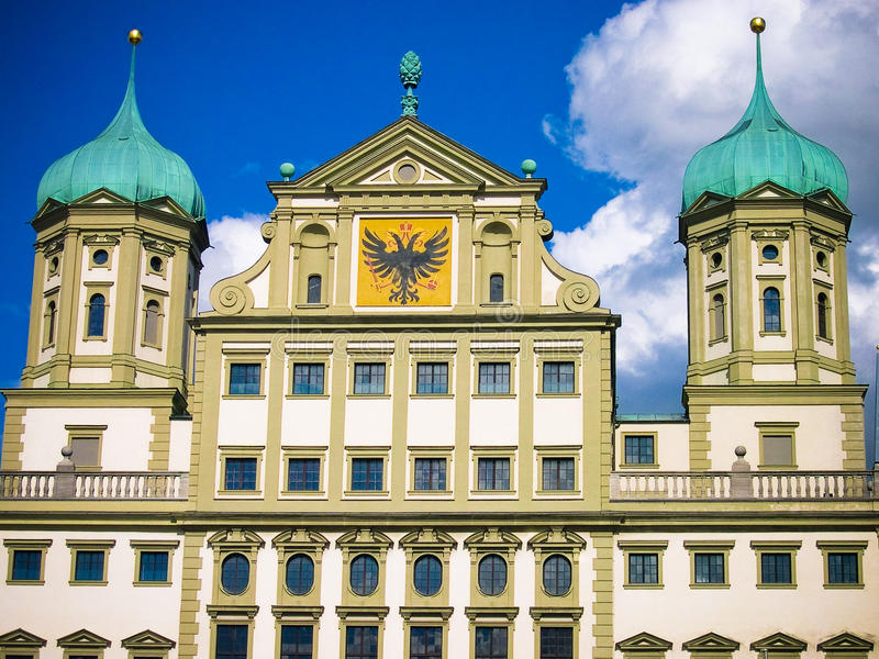 Augsburg building. Sunlit building in Augsburg Germany royalty free stock image
